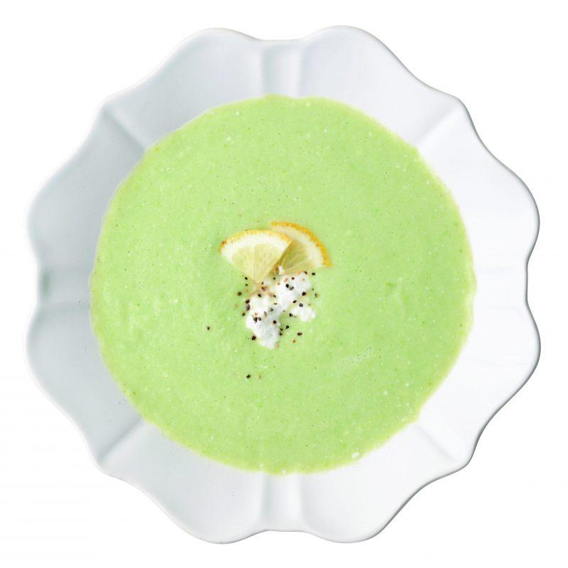 レタスと枝豆のレモンポタージュ『#モデルが撮影前に飲んでいる 魔法の即ヤセ低糖質スープ』