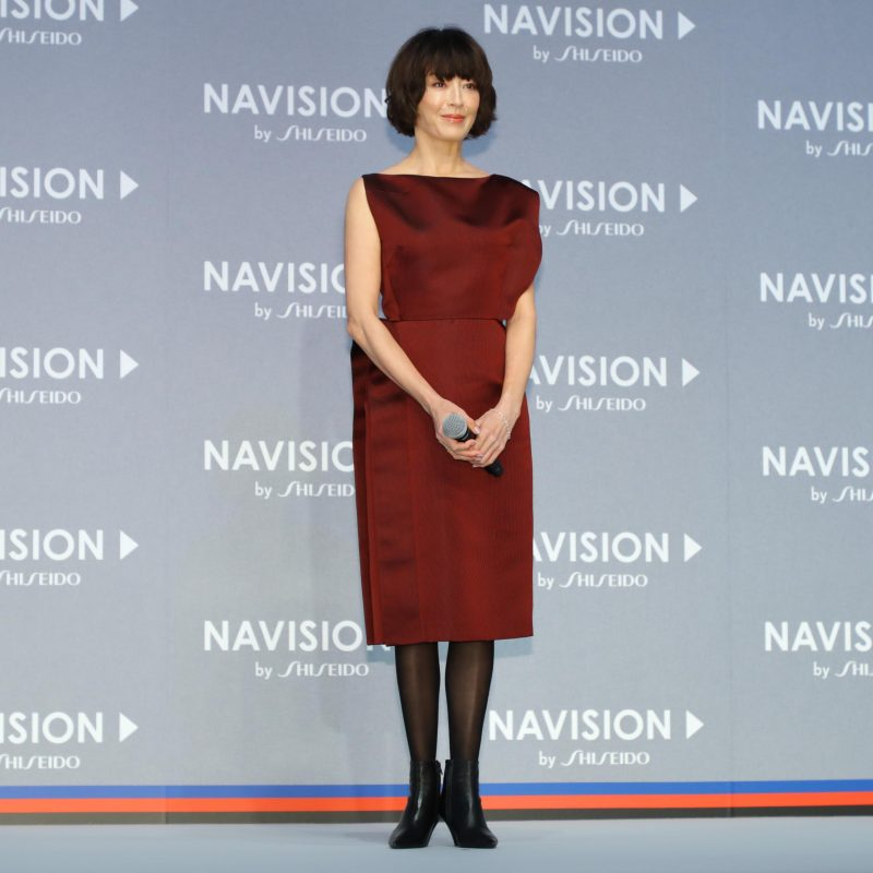 資生堂のスキンケアブランド「NAVISION(ナビジョン)」のブランド戦略発表会に登壇した宮沢りえ