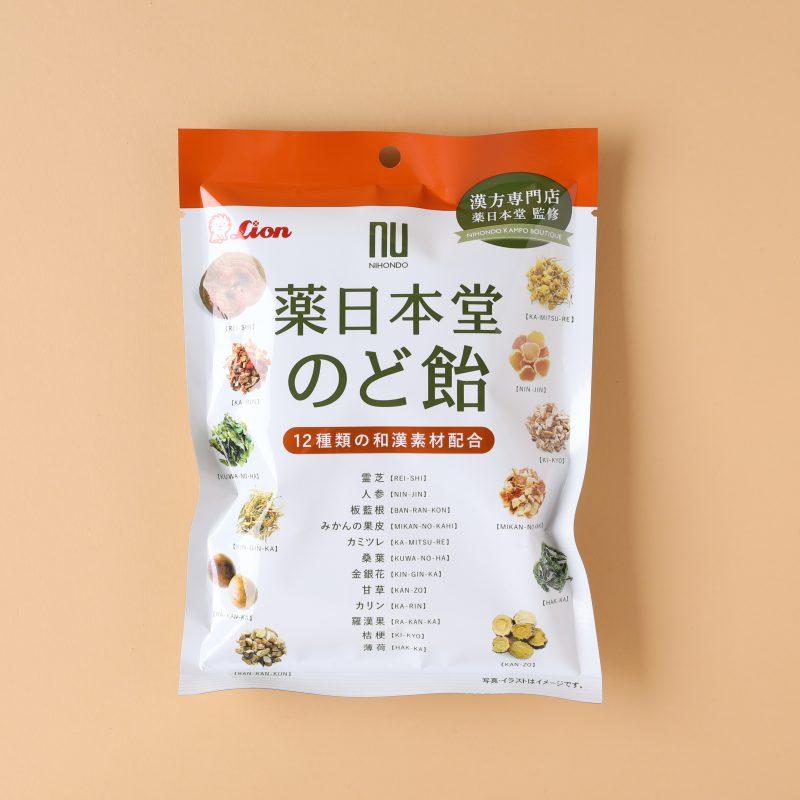 ライオン菓子の薬日本堂のど飴