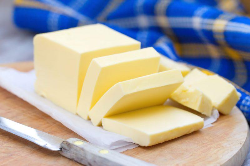 バターがカットされている
