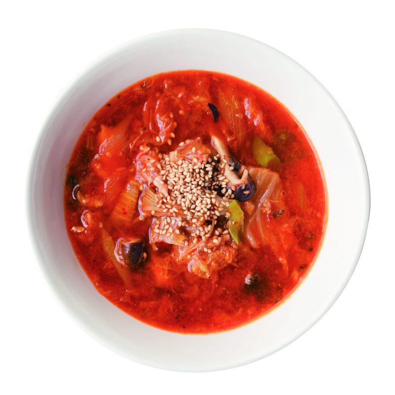 さば缶とキムチの韓国風スープ