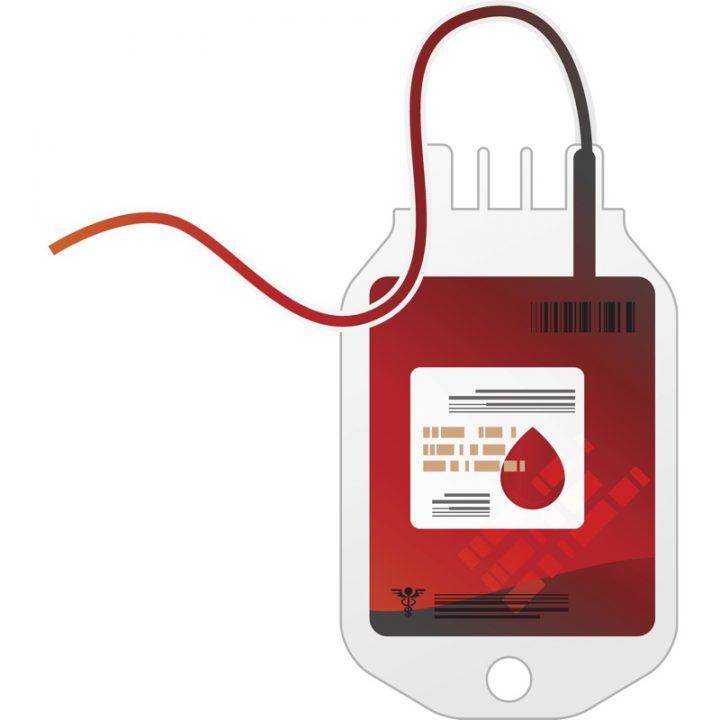 輸血バッグのイラスト