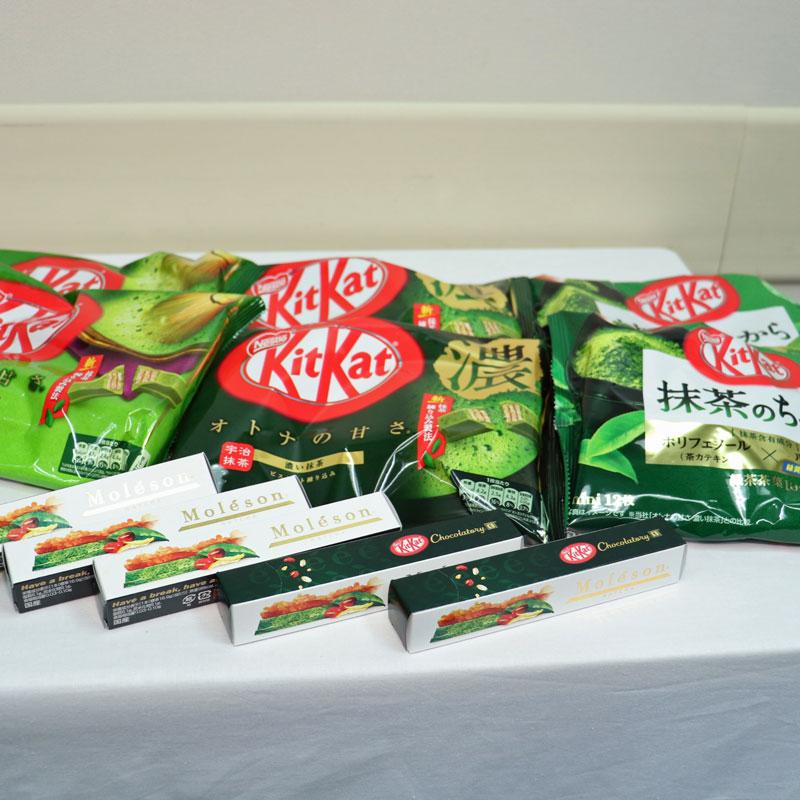 『キットカット 抹茶のちから』が並べられている