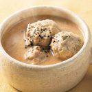 豆乳みそのお団子スープ