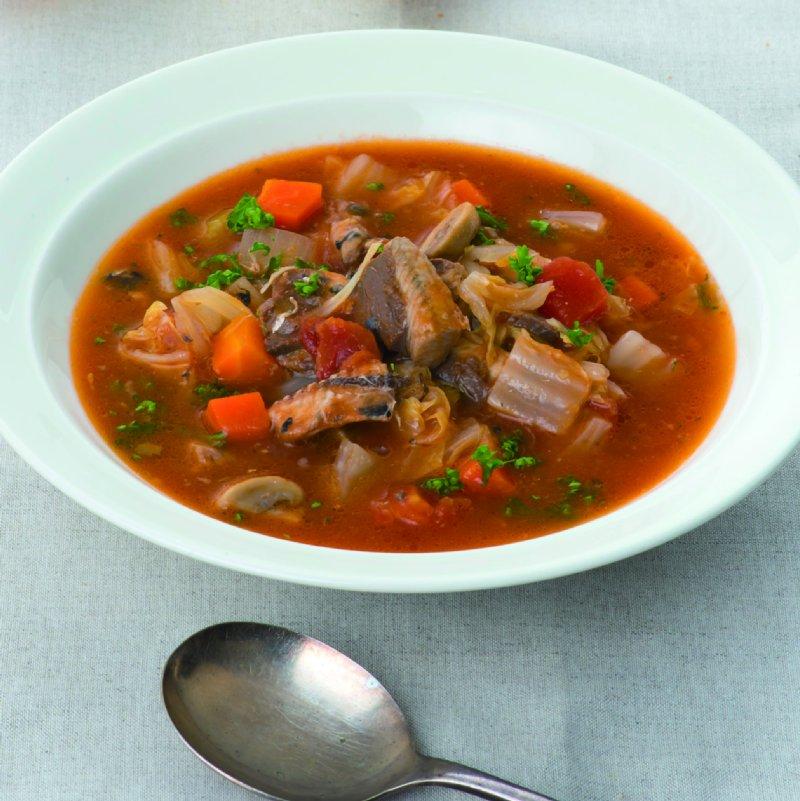 このひと皿に、たんぱく質、オメガ3系、ビタミン類が豊富に詰まっている。カロリーは359kcal(1人分)
