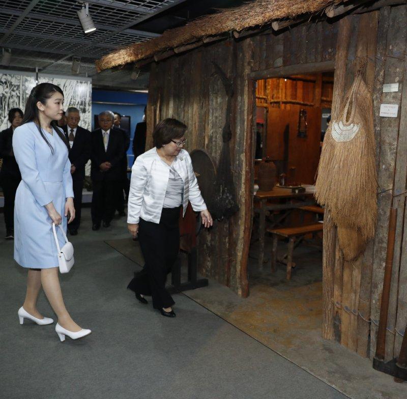 ブラジル日本移民資料館をご視察された眞子さま
