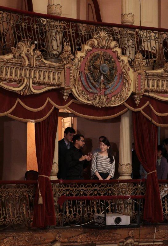 アマゾナス劇場を視察された眞子さま
