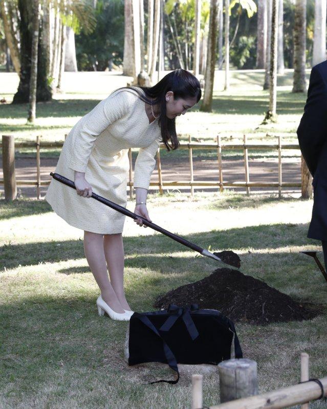 リオデジャネイロ植物園で植樹される眞子さま
