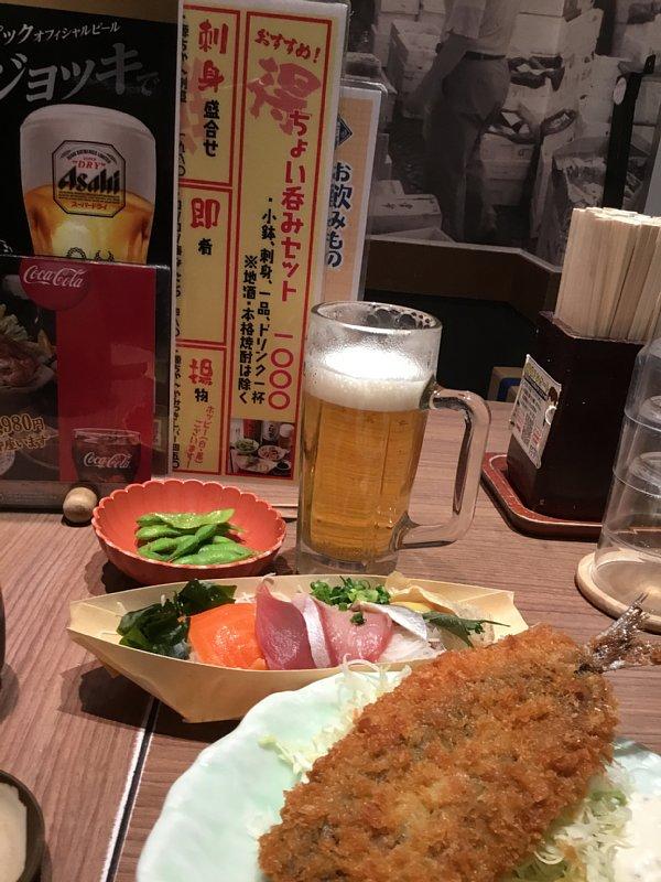 居酒屋のちょい呑みセット