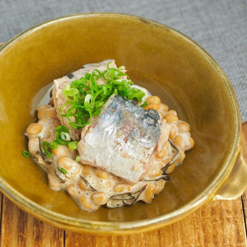 黒酢×魚のオイル「さばの納豆ボウル」