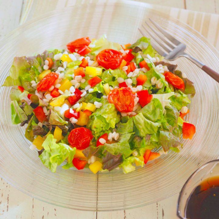 バルサミコ酢×オリーブオイル「ドレッシングで食べる 彩りサラダ」