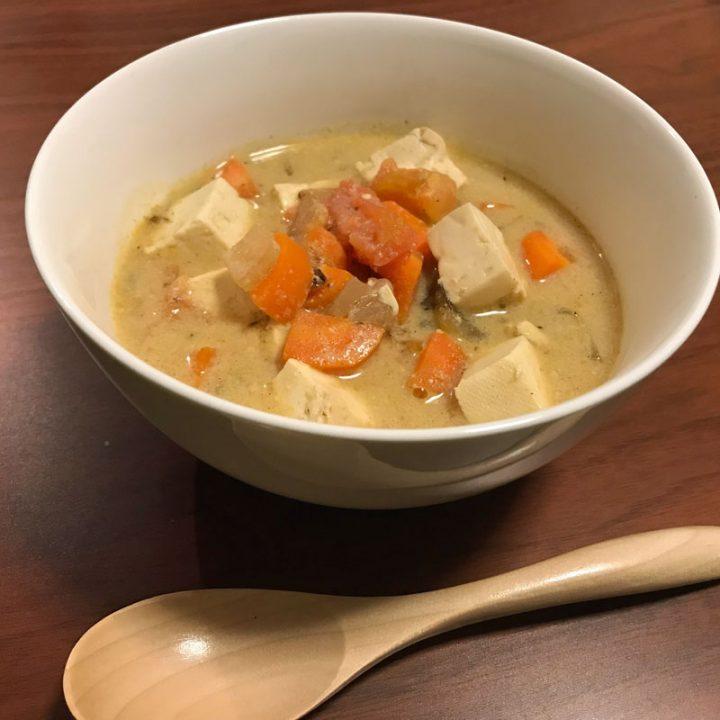 自律神経を整える料理「スパイス豆乳トマトスープ」