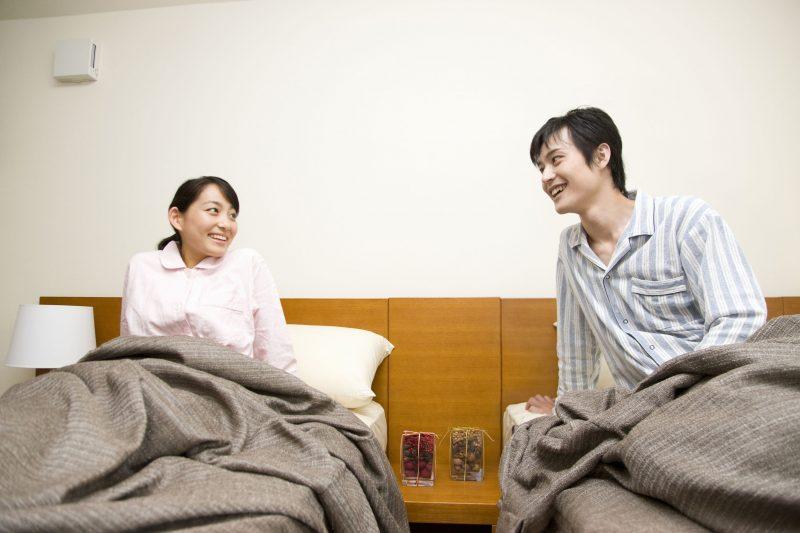 夫婦でベッドを別々にしている