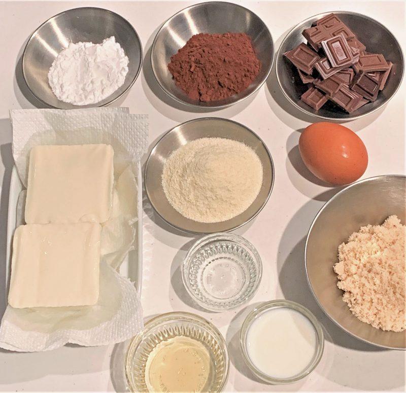 市橋有里が考案したおからパウダー&豆腐で作るヘルシースイーツ「ガトーフショコラ」材料