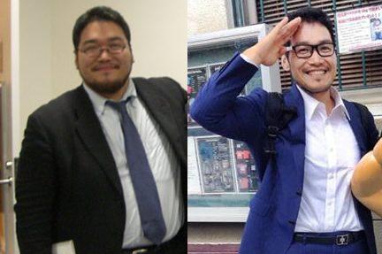 約50kgの減量に成功したIT社長の田中啓之さんビフォーアフター