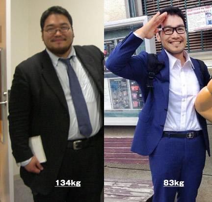 約50kgの減量に成功したIT社長の田中啓之さん