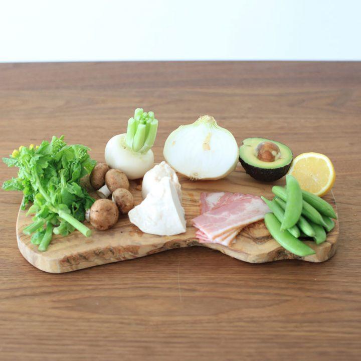 市橋有里考案の「春野菜のコブサラダ」材料