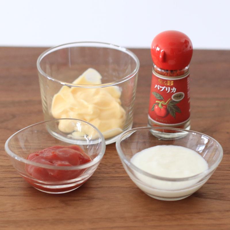 「春野菜のコブサラダ」のドレッシング材料