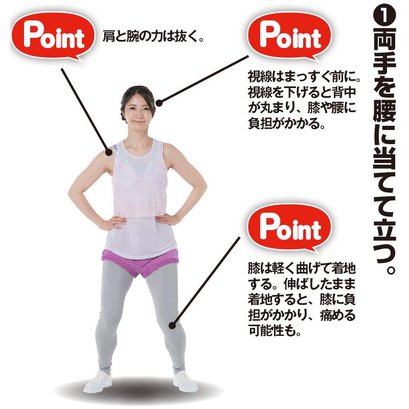 腰に手を当てるトレーニング着姿の女性