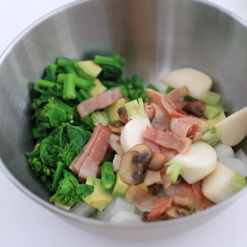「春野菜のコブサラダ」