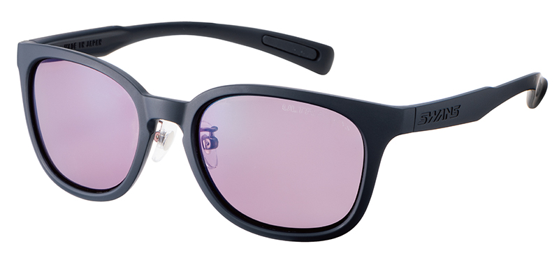 偏光レンズを使った黒ぶちのサングラス
