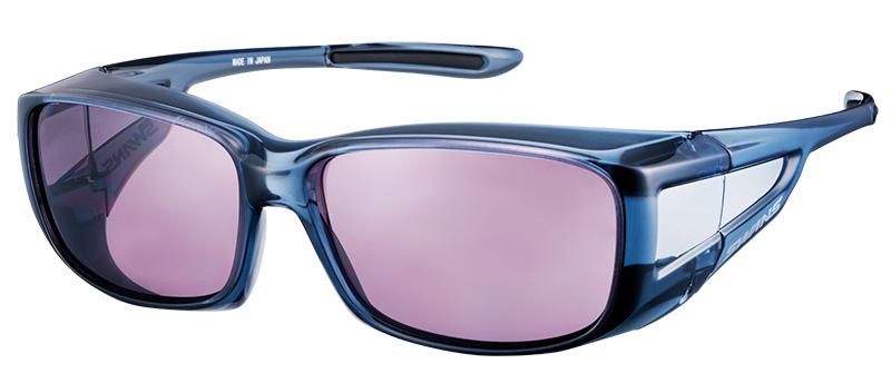 偏光レンズを使ったサングラス。ツルの部分が太い