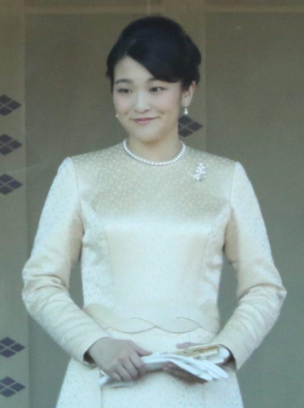 2019年の新年の一般参賀で微笑む眞子さま