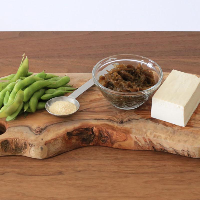 枝豆ともずくのスープの材料