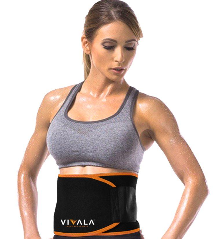 『 VIVALA ヒートシェイプベルトを腰に巻いている女性