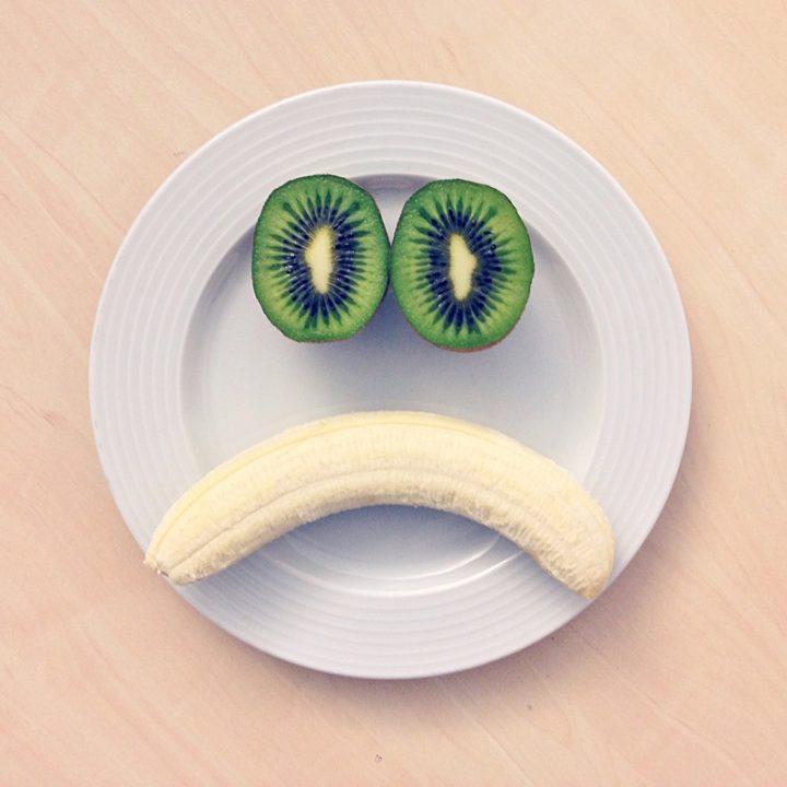 キウイフルーツとバナナ
