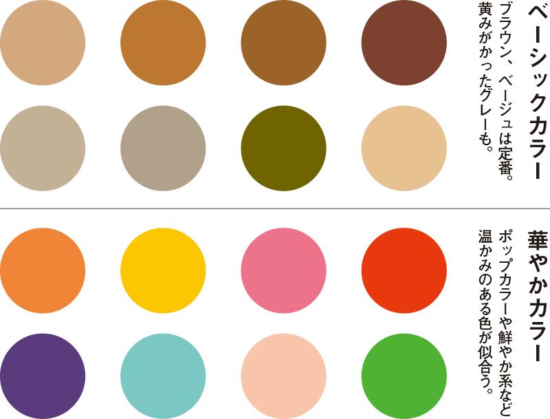 イエベ肌に似合う色16色を紹介