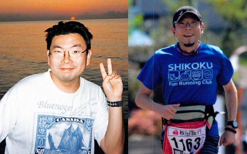 田井先生の84kg時代と59kg現在のビフォアアフター