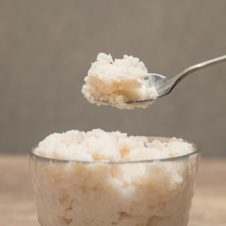 『スノーデザート 雪花』で作ったアーモンドミルクアイス