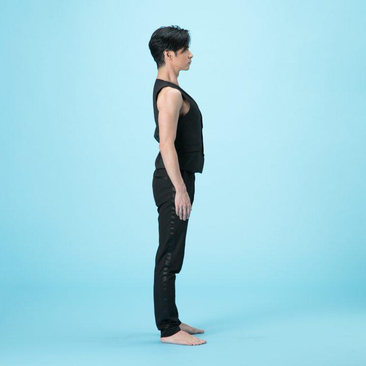 背伸びのやり方1