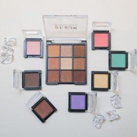 ダイソー「UR GLAM」アイシャドウ7色&パレット9色レビュー|全色を試してみてチェック!