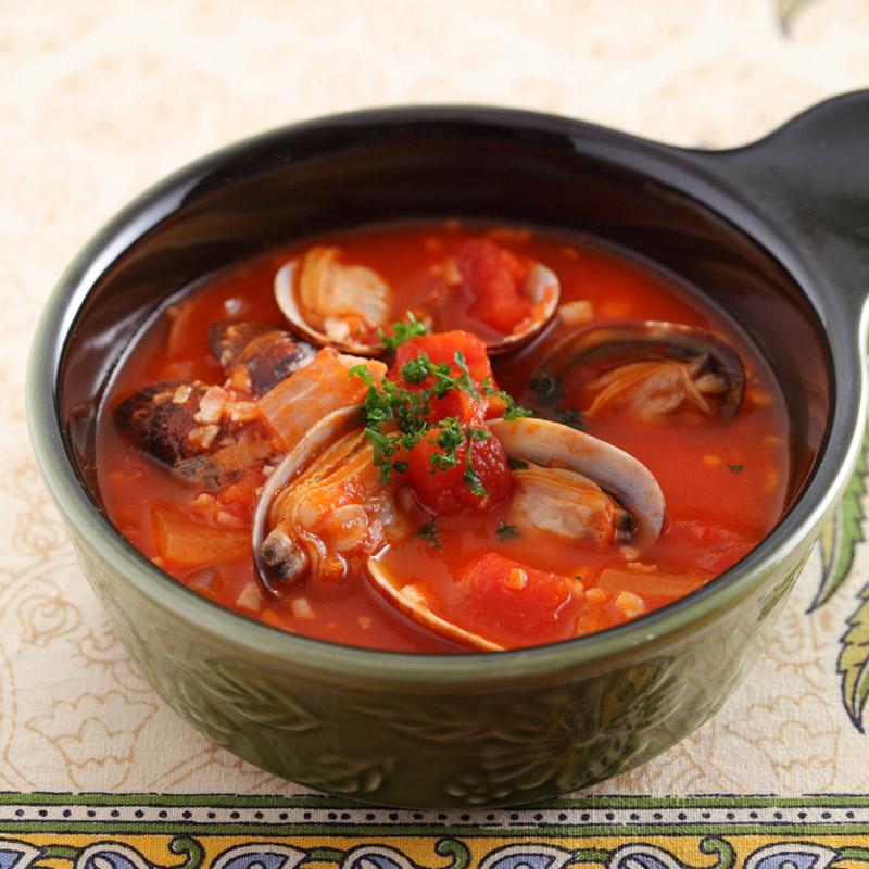 あさりたっぷりトマトスープ