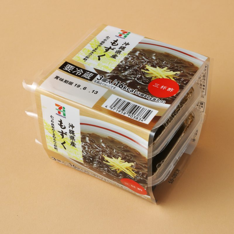 セブンイレブンの沖縄県産もずく 3個入