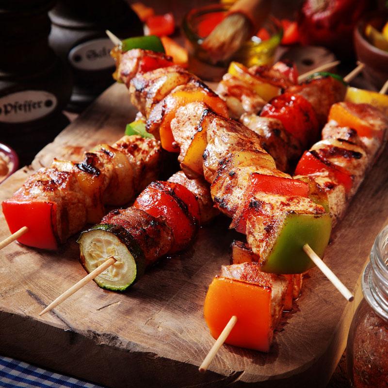 バーベキュー用野菜とお肉の串