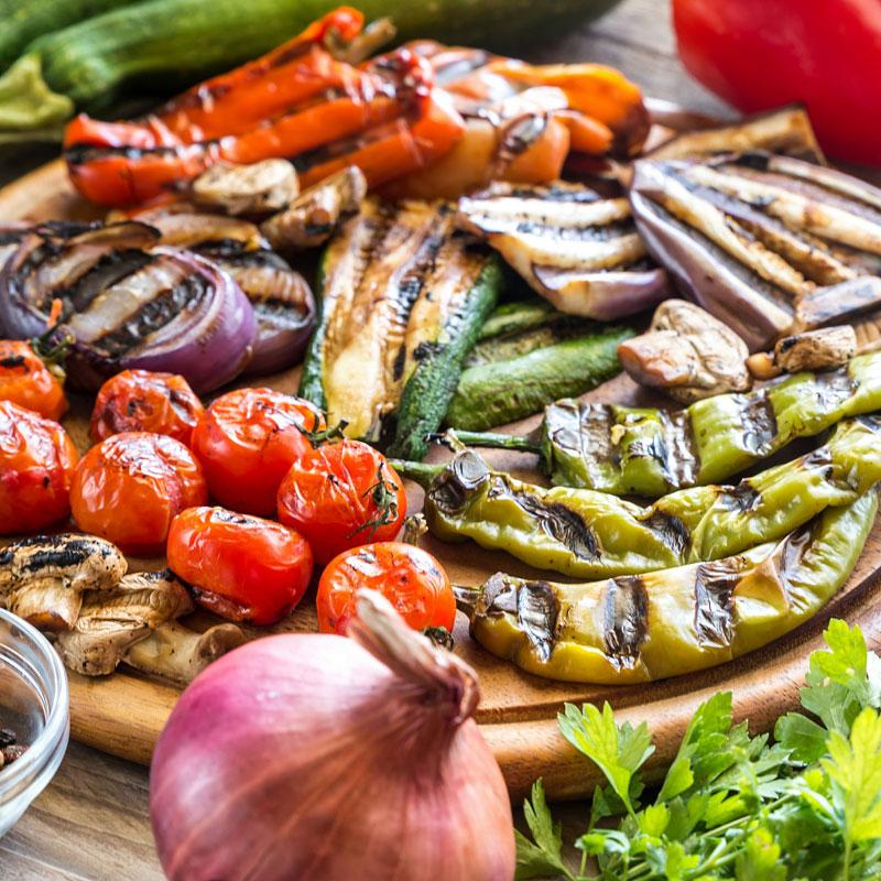 焼いた野菜