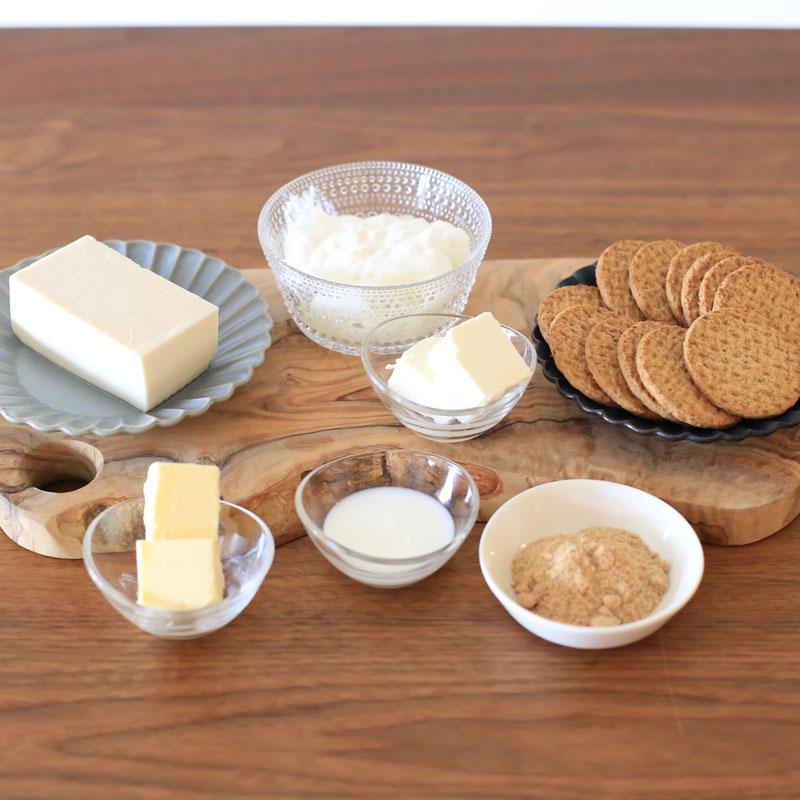 市橋有里がレシピを考案した生理にまつわる不調解決につながる極旨スイーツ「レアチーズ豆腐」材料