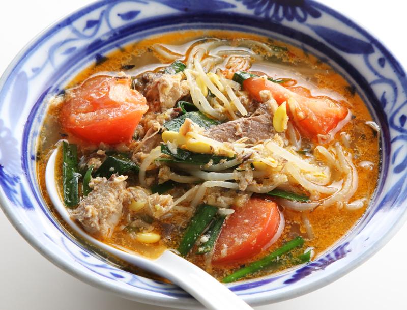さば缶の脳はっきり担々(たんたん)スープ