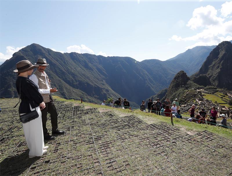 世界遺産マチュピチュで遺跡を訪問した眞子さま