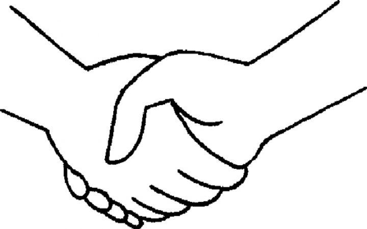 握手イラスト