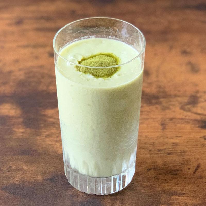 緑茶アボカド豆乳