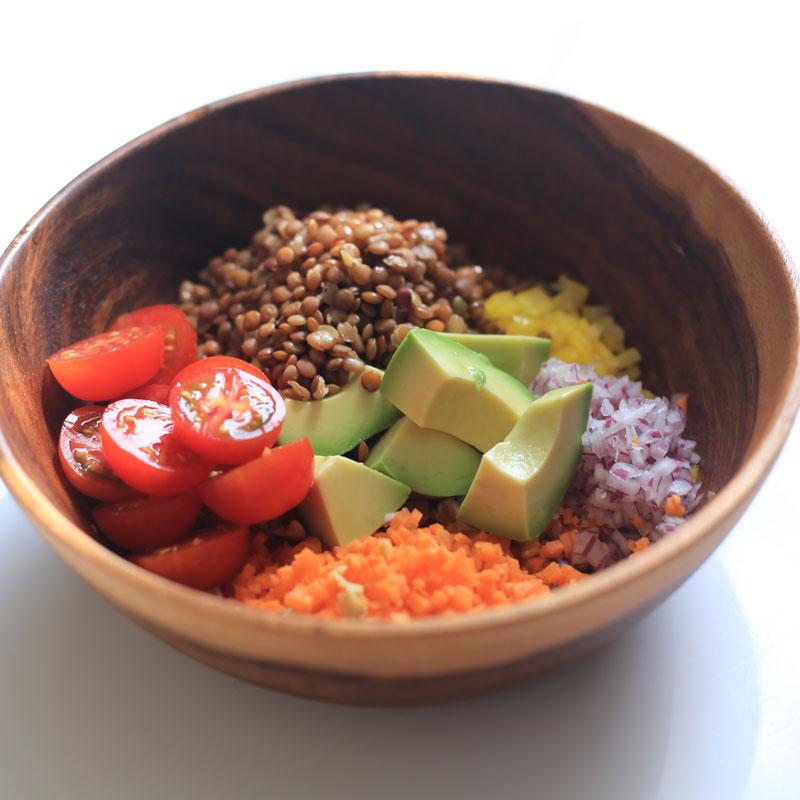 「レンズ豆のサラダ」
