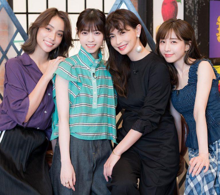 滝沢カレン、西野七瀬、長谷川京子、田中みな実