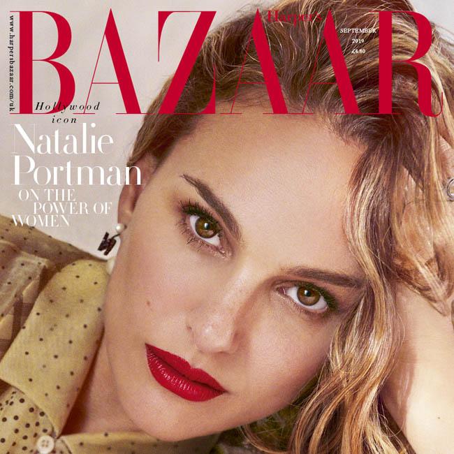 ナタリーが登場した英版ハーパーズ・バザー誌9月号の表紙