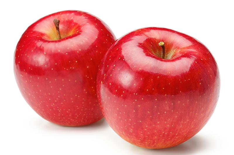りんごが2個並んだ写真
