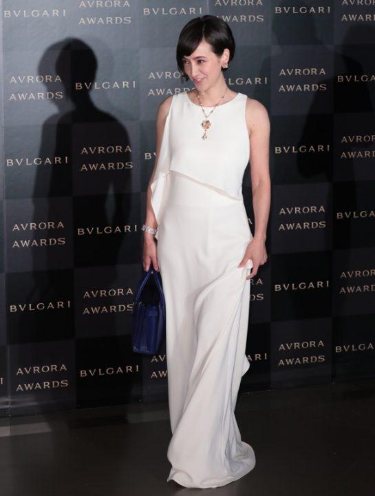 『BVLGAR AVRORA AWARDS(ブルガリ アウローラ アワード)』授賞式に登場した滝川クリステル