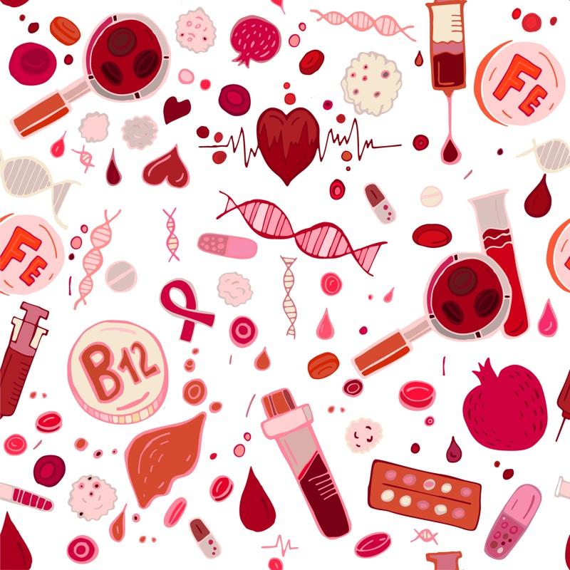 血液型のイメージイラスト